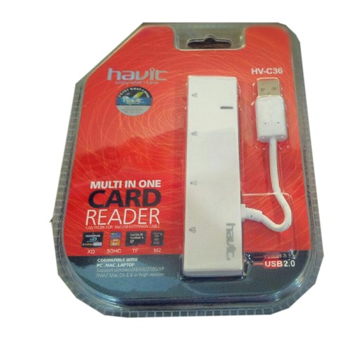 HAVIT Card reader [HV-C36] - White - Memory Card Reader External